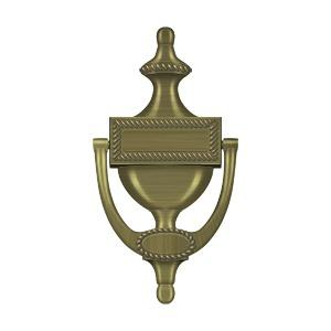 Deltana - Door Knocker, Victorian Rope - Antique Brass