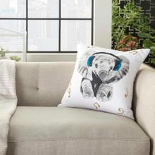 "Trendy, Hip, New-age Jb015 White 18"" X 18"" Throw Pillow"