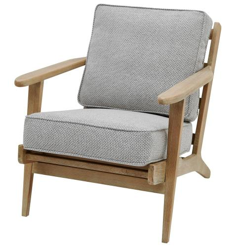 Albert Fabric Accent Arm Chair Brushed Smoke Frame, Cardiff Gray