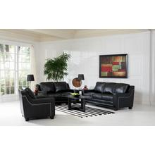LOVESEAT/BLACK FINISH 61''Lx38''Wx37''H