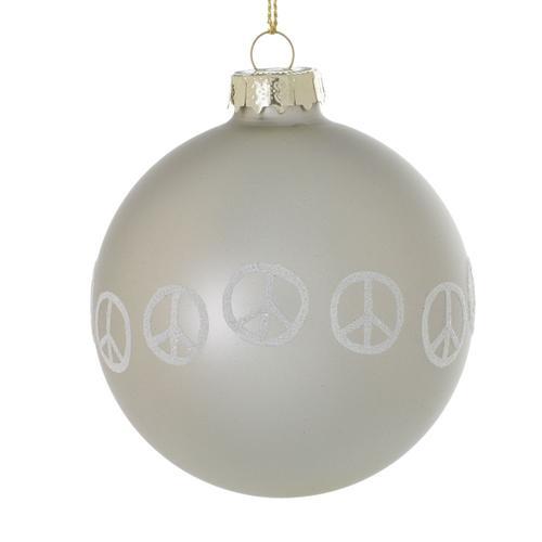 "Accent Decor - Peaceful Ornament (Size:3"", Color:Grey)"