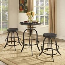 Gather 3 Piece Dining Set in Black