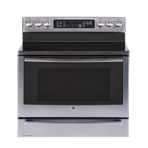 "GE Profile 30"" Freestanding Self-Clean Electric Range with Baking Drawer Stainless Steel - PCB987YMFS"