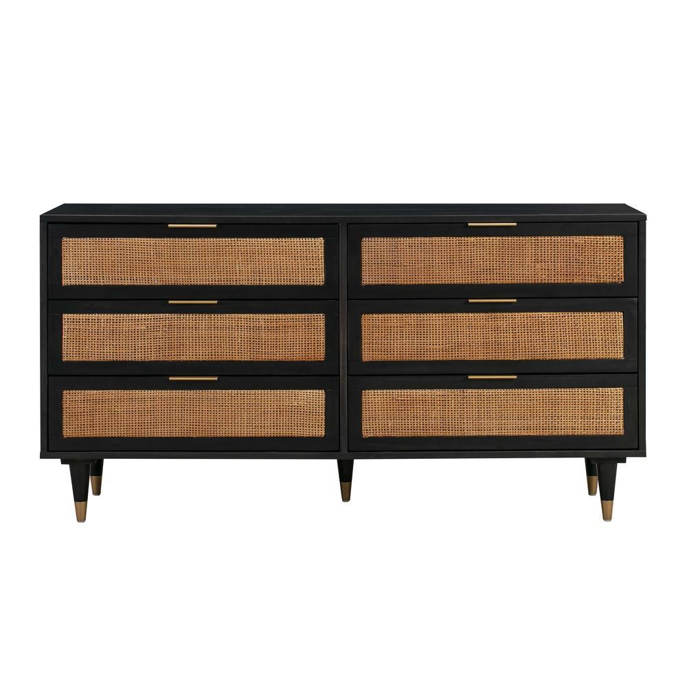 See Details - Sierra Noir 6 Drawer Dresser