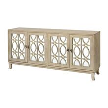 Piotr 4-door Credenza In Natural Wash
