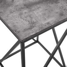 View Product - Modern Geometric Side Table - Faux Dark Concrete
