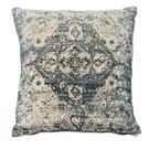 Velvet Faded Blue Medallion Pillow Product Image