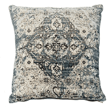 Velvet Faded Blue Medallion Pillow