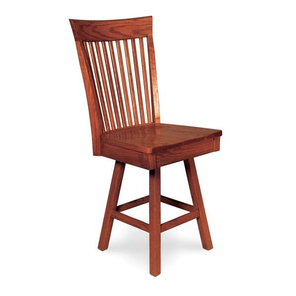 "Loft II Swivel Barstool, Side, 24""h, Fabric Seat"