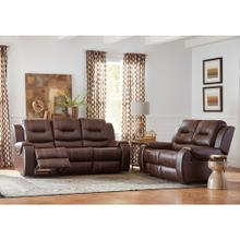 See Details - Hanover Rialto Faux-Leather Double Reclining Loveseat and Sofa Set, Brown, HUM001SET2-BR