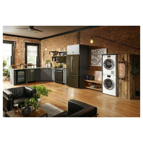 """Haier - 4.1 cu.ft. Capacity Smart 24"""" Ventless Condenser Frontload Electric Dryer with Stainless Steel Basket"""