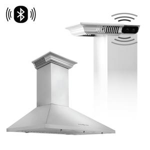 Zline KitchenZLINE Wall Mount Range Hood In Stainless Steel With Built-In CrownSound® Bluetooth Speakers (KL2CRN-BT) [Size: 30 inch]