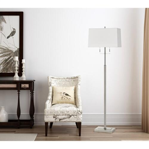 60W X 2 Norwich Metal Floor Lamp With Fabric Shade