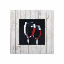 See Details - Two Glasses of Wine With Background Miniature Fine Wall Art