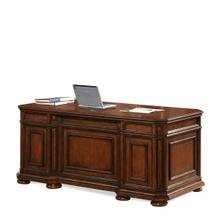 View Product - Cantata Executive Desk Burnished Cherry finish