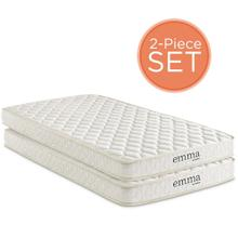 "Emma 6"" Twin Mattress Foam Set of 2 in"