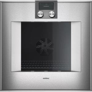 Gaggenau400 Series Oven 24'' Door Hinge: Right, Door Hinge: Right, Stainless Steel Behind Glass