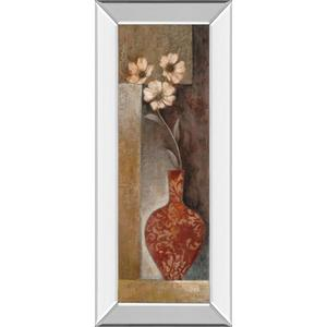 """""""Baroque Floral Il"""" By Rosie Abrahams Mirror Framed Print Wall Art"""
