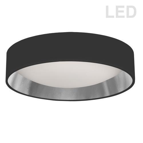 """Product Image - 15"""" Flush Mount, Bk/slv Shade"""