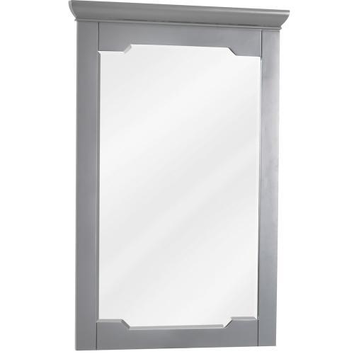 "22"" x 34"" Grey mirror with beveled glass"