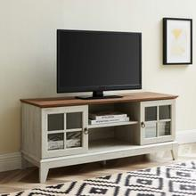 "Isle 47"" TV Stand in Walnut White"