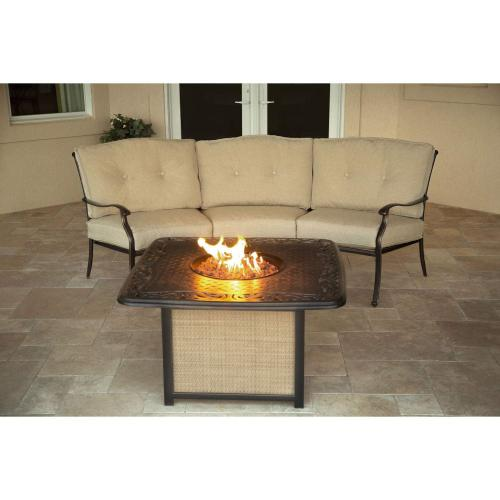 Hanover Traditions 2-Piece Seating Set with Cast-Top Fire Pit, TRADITIONS2PCFP