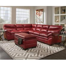 Soho Cardinal Red Bonded Leather Right Face Sofa
