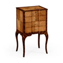 Rosewood and satinwood collector cabinet