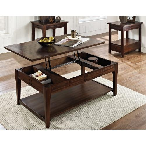 Crestline 3-Piece Lift-Top Set(Lift-Top Cocktail & 2 End Tables)
