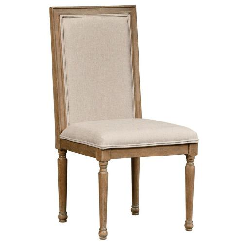 Savannah Court 2-Pack Upholstered Side Chairs, Distressed Toffee Brown