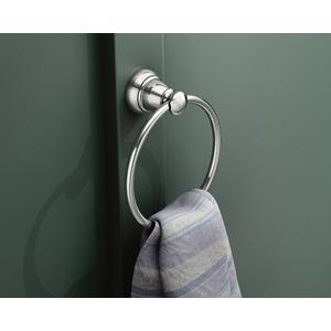 Banbury chrome towel ring