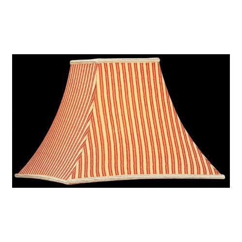 """Square Stripe Shade - 6""""tx14""""bx11""""sl"""