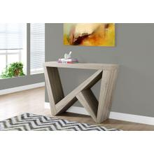 "ACCENT TABLE - 48""L / DARK TAUPE HALL CONSOLE"