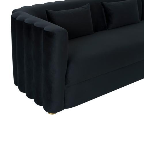 Tov Furniture - Callie Black Velvet Sectional - RAF