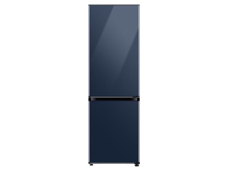 Samsung12.0 Cu. Ft. Bespoke Bottom Freezer Refrigerator With Customizable Colors And Flexible Design In Navy Glass