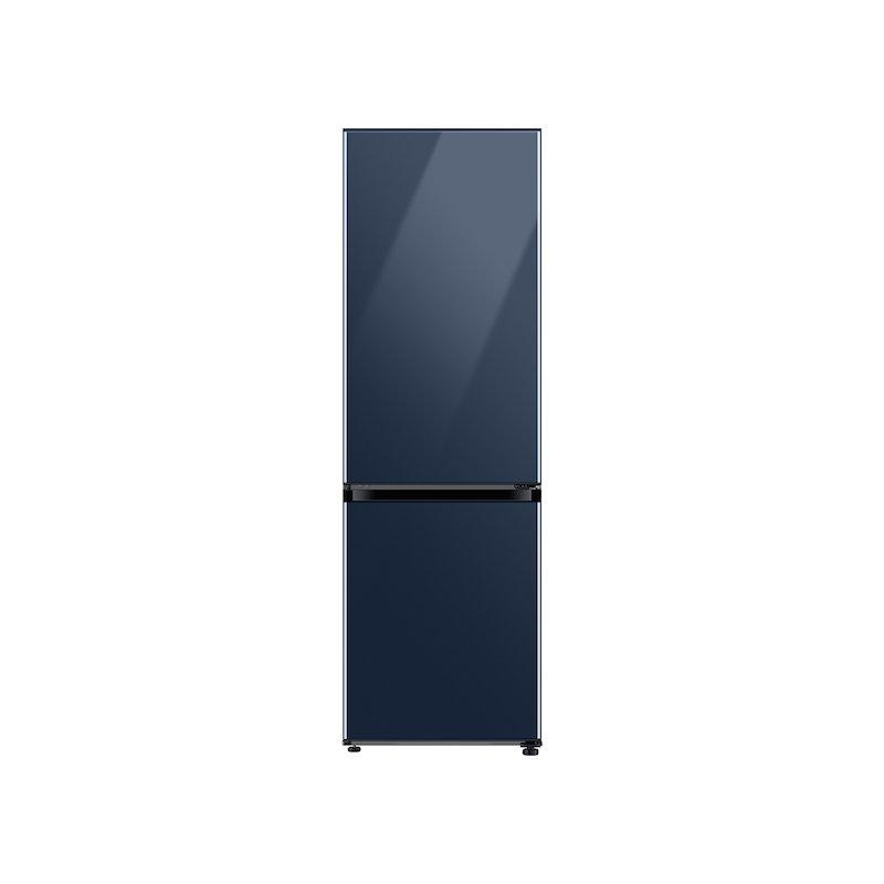 12.0 cu. ft. BESPOKE Bottom Freezer Refrigerator with Customizable Colors and Flexible Design in Navy Glass