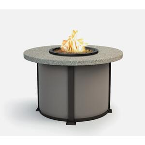 "42"" Round Dining Fire Table Ht: 27.5"" Valero Aluminum Base (Indicate Top, Frame, & Side Panel Color)"