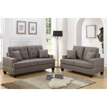 Clara 2pc Loveseat & Sofa Set, Coffee