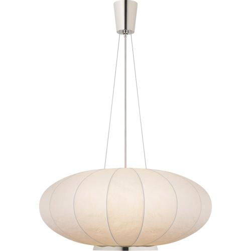 Visual Comfort BBL5123PN-RP Barbara Barry Moon 1 Light 36 inch Polished Nickel Hanging Shade Ceiling Light, Large
