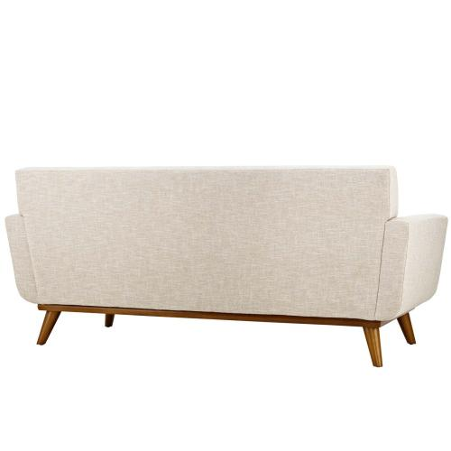 Modway - Engage Upholstered Fabric Loveseat in Beige