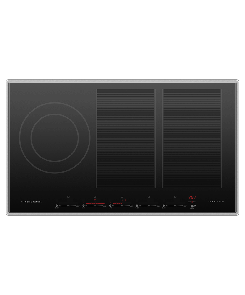 """Induction Cooktop, 36"""", 5 Zones, with SmartZone"""
