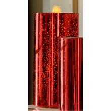 "8"" Red Shimmer Bubbler Candle w/remote"