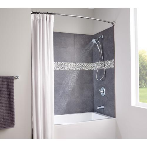 Moen Chrome adjustable curved shower rod