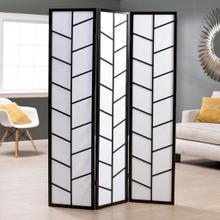 See Details - Climbing 3-Panel Screen Room Divider - Black