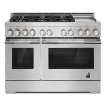 """See Details - 48"""" RISE Gas Professional-Style Range with Chrome-Infused Griddle"""
