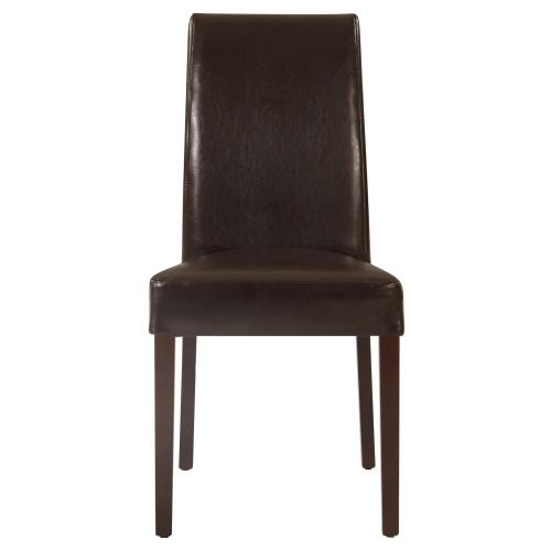 Hartford Leather Dining Side Chair, Brown