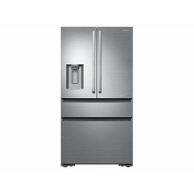 23 cu. ft. Counter Depth 4-Door French Door Freestanding Chef Collection Refrigerator in Stainless Steel