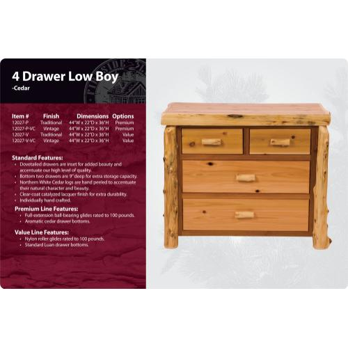 Product Image - 4 Drawer Low-Boy -Traditional