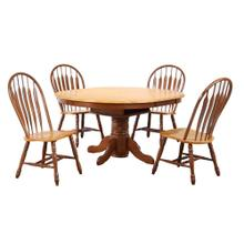 DLU-TBX4266-4130-NLO5PC  5 Piece Pedestal Dining Set  Comfort Back Chairs