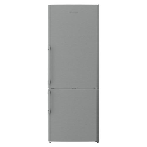 27in 15 cuft bottom freezer fridge, stainless steel